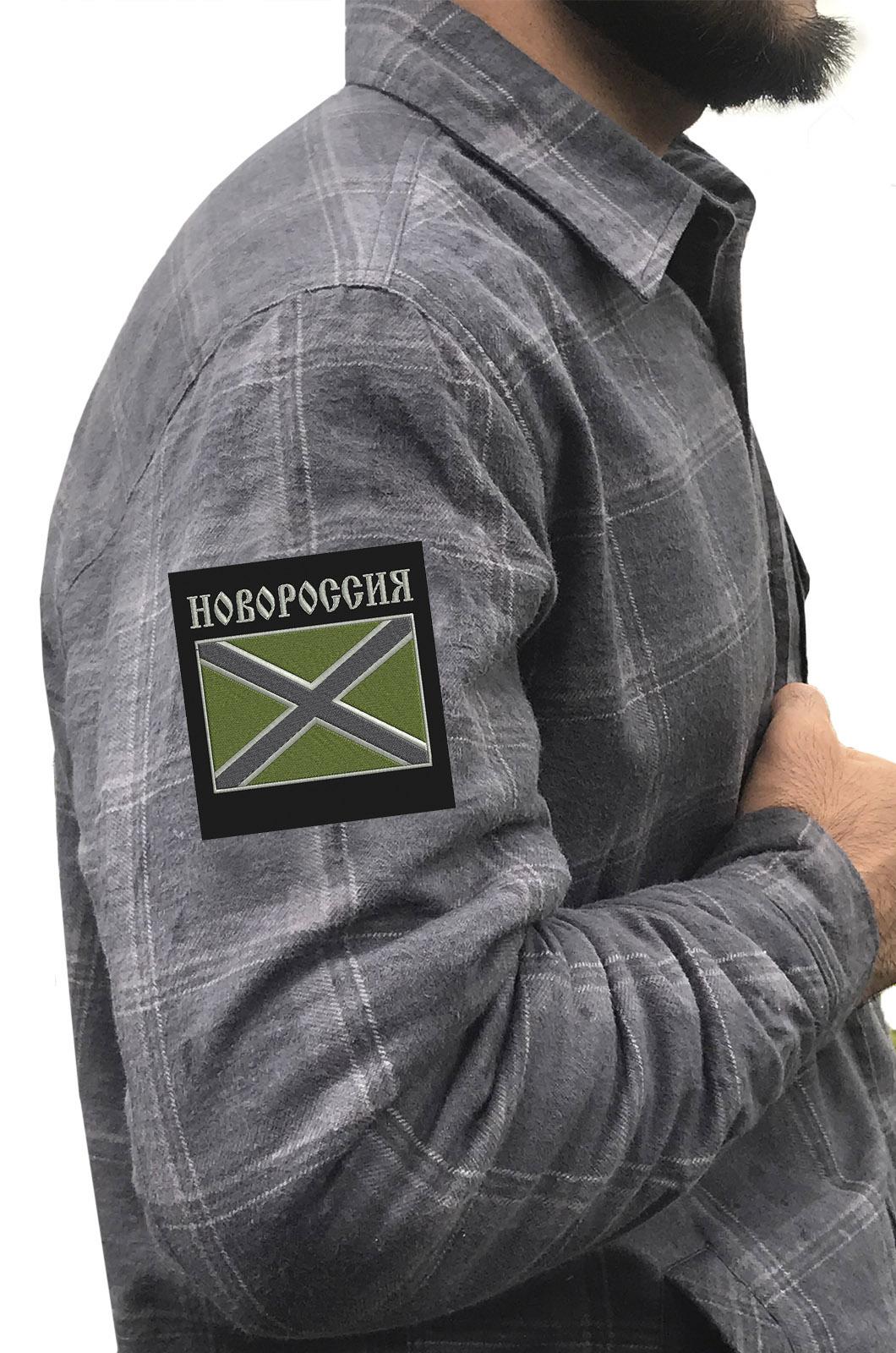 Крутая рубашка с вышитым полевым шевроном Новороссия - купить в Военпро