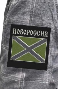 Крутая рубашка с вышитым полевым шевроном Новороссия - купить по низкой цене