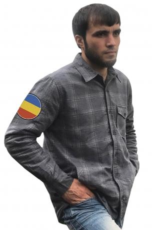 Крутая рубашка с вышитым шевроном Донского Войска Казачьего