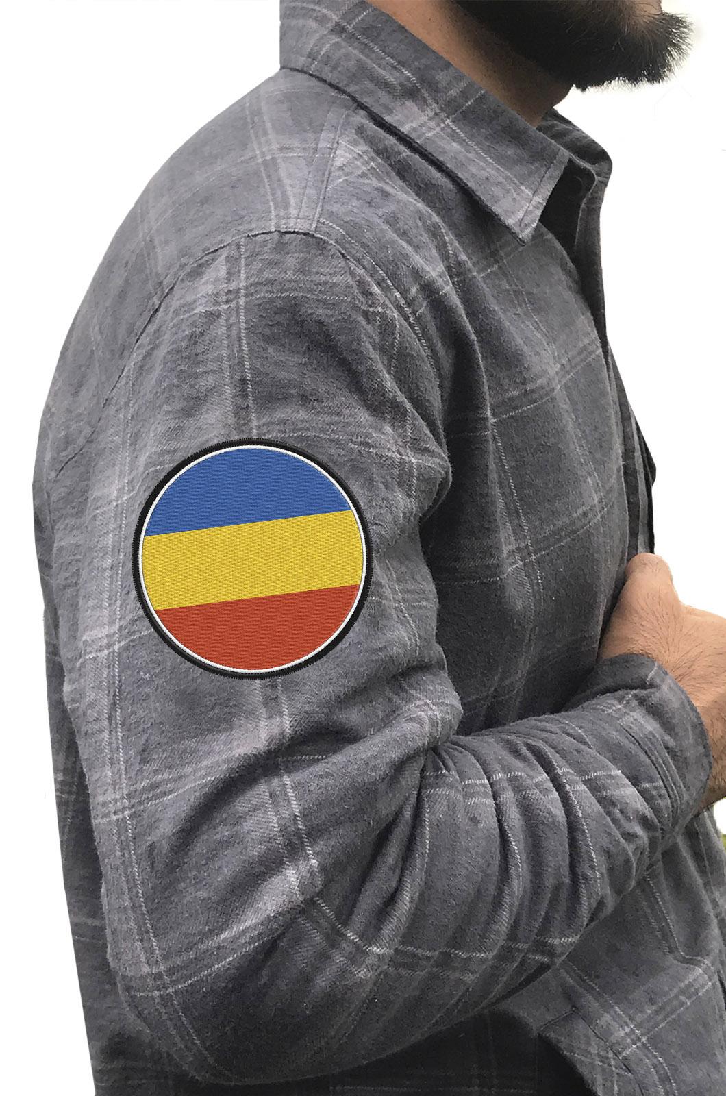 Крутая рубашка с вышитым шевроном Донского Войска Казачьего - купить онлайн