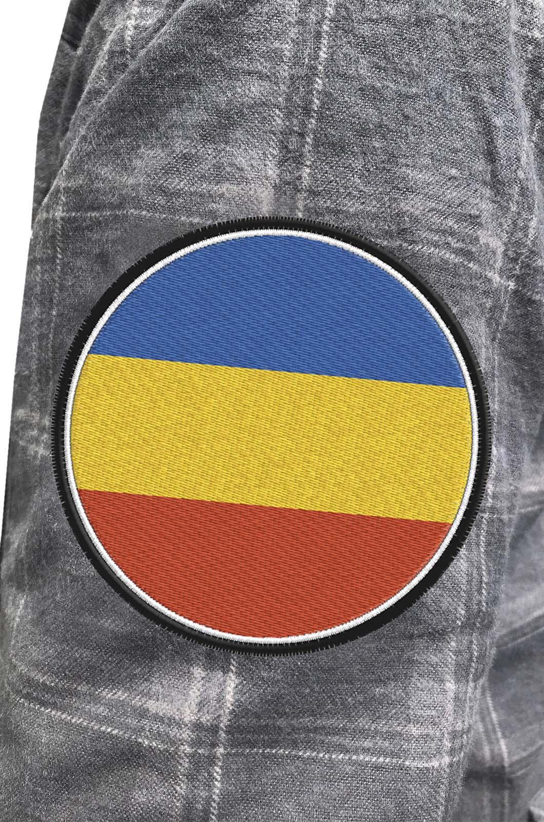Крутая рубашка с вышитым шевроном Донского Войска Казачьего - купить с доставкой