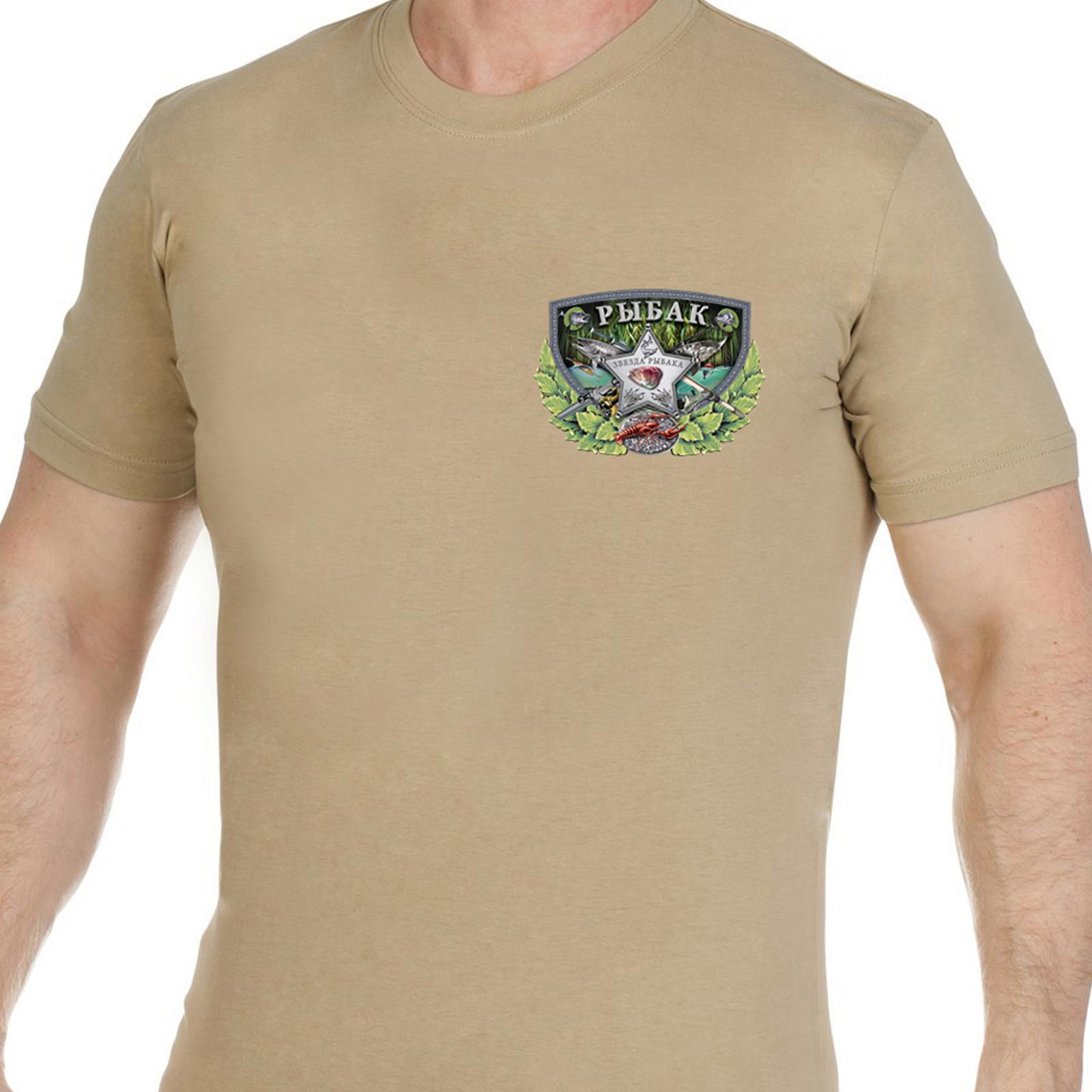 Крутая рыбацкая футболка с тематическим принтом - купить онлайн