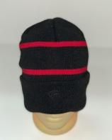 Крутая шапка с красными полосками