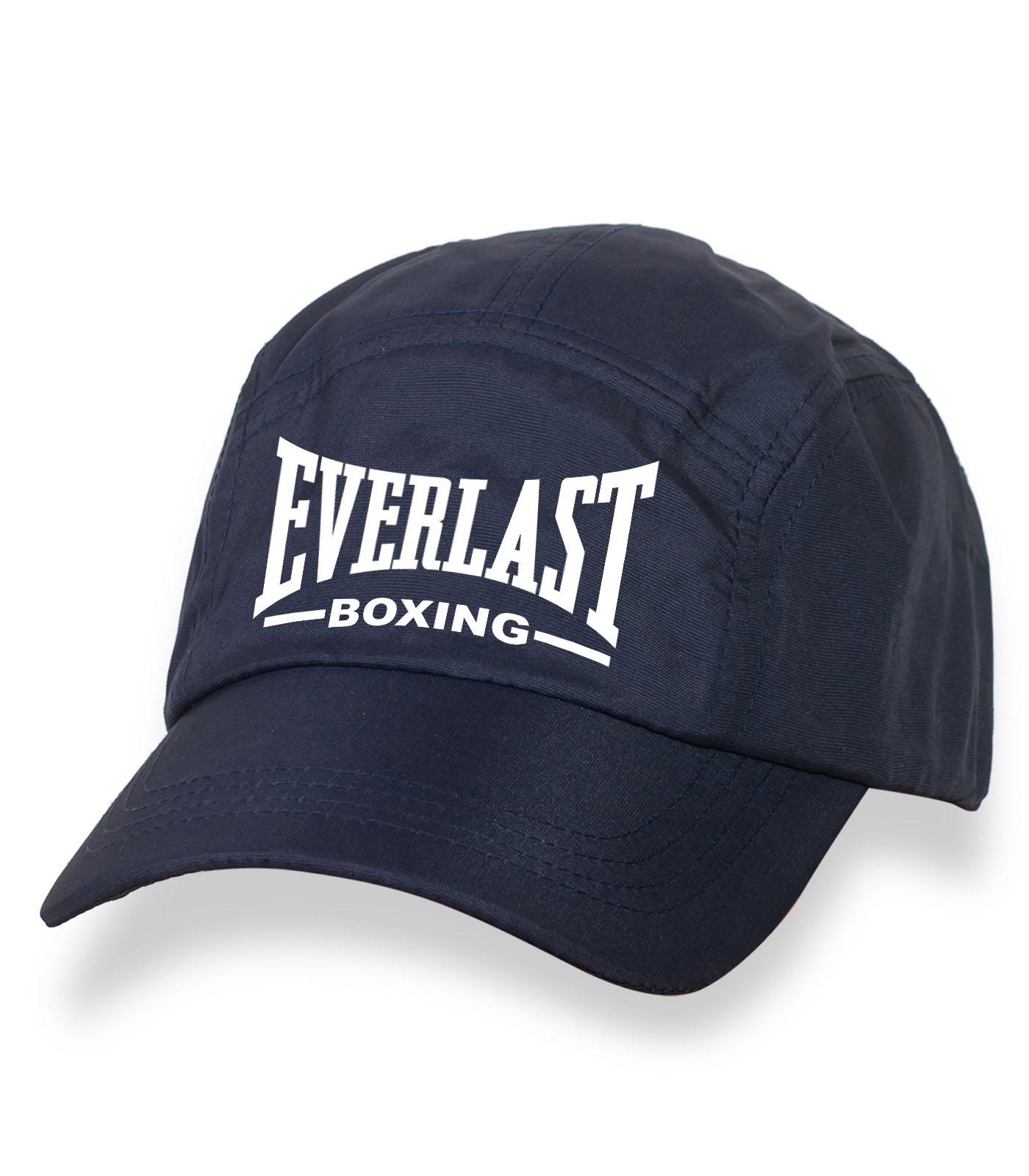Крутая темная бейсболка с термонаклейкой Everlast Boxing