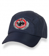 Крутая темно-синяя бейсболка с термотрансфером Красная Армия