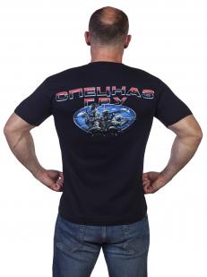 """Крутая темно-синяя футболка """"Спецназ ГРУ"""" - купить оптом"""