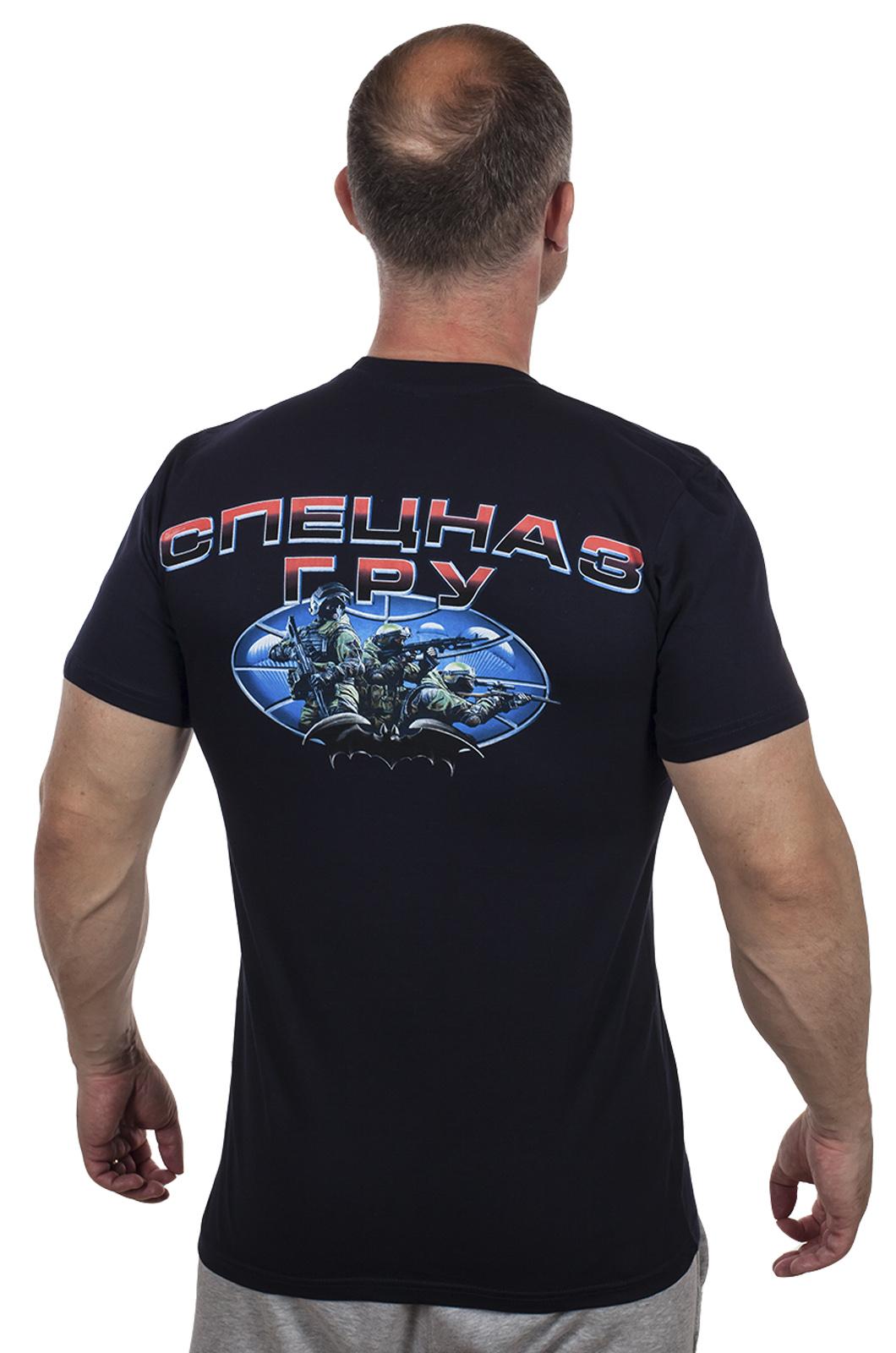 """Крутая темно-синяя футболка """"Спецназ ГРУ"""" по лучшей цене"""