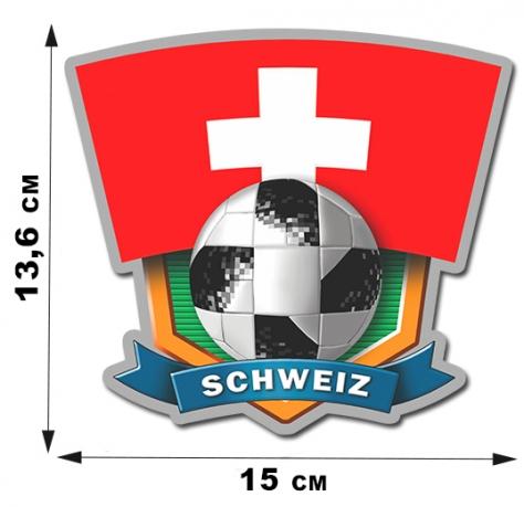 Крутая виниловая наклейка фанату Schweiz