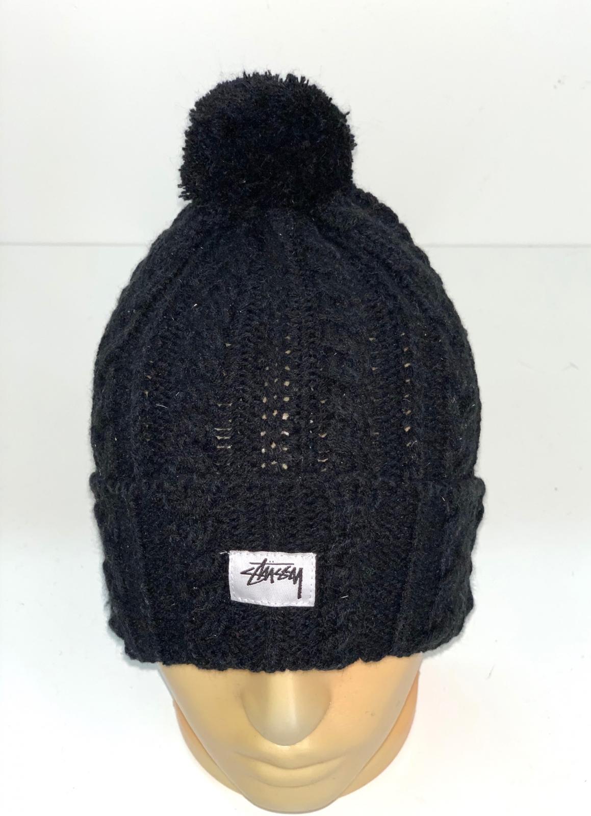 Крутая вязаная шапка с помпоном