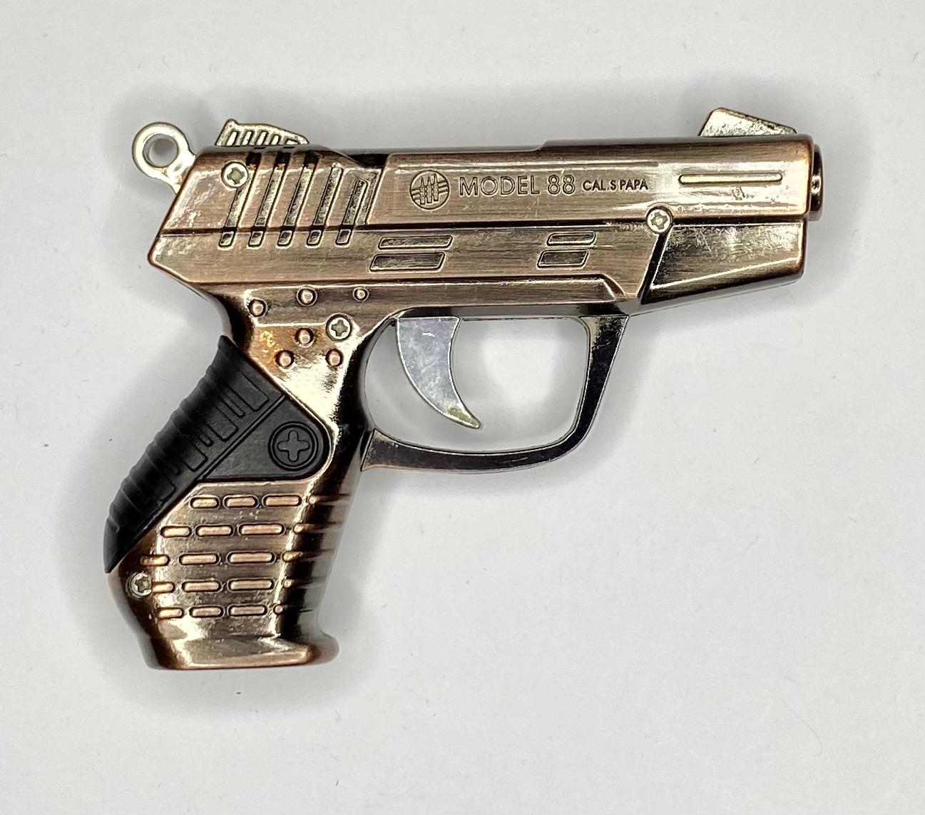 Крутая зажигалка-пистолет