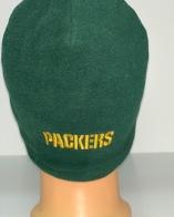 Крутая зеленая шапка с вышитой надписью