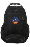 Крутой черный рюкзак с эмблемой РВСН