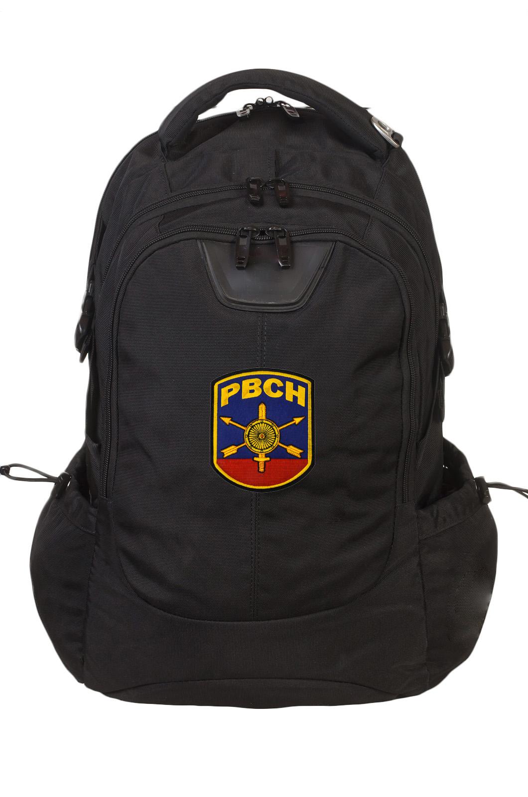 Крутой черный рюкзак с нашивкой РВСН
