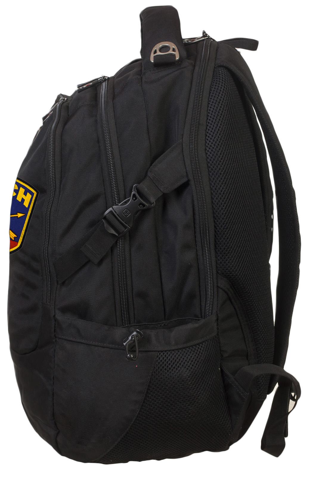 Крутой черный рюкзак с нашивкой РВСН - купить онлайн