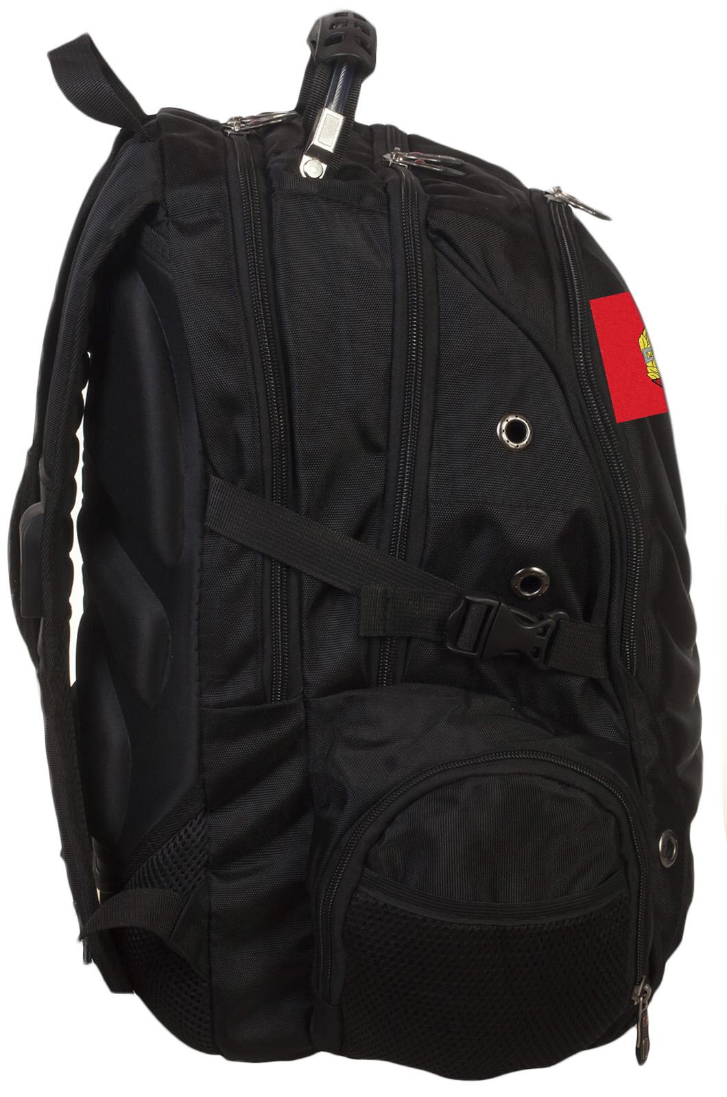 Крутой черный рюкзак с нашивкой Спецназ - заказать онлайн