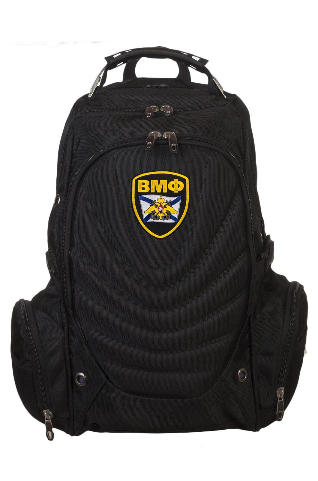 Крутой черный рюкзак с нашивкой ВМФ