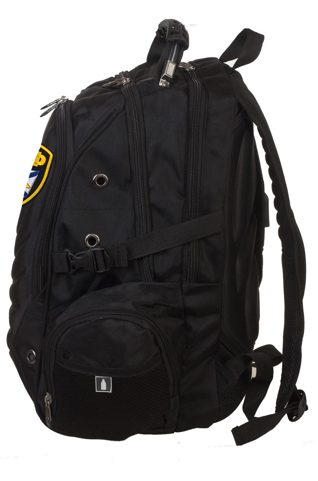 Крутой черный рюкзак с нашивкой ВМФ купить выгодно