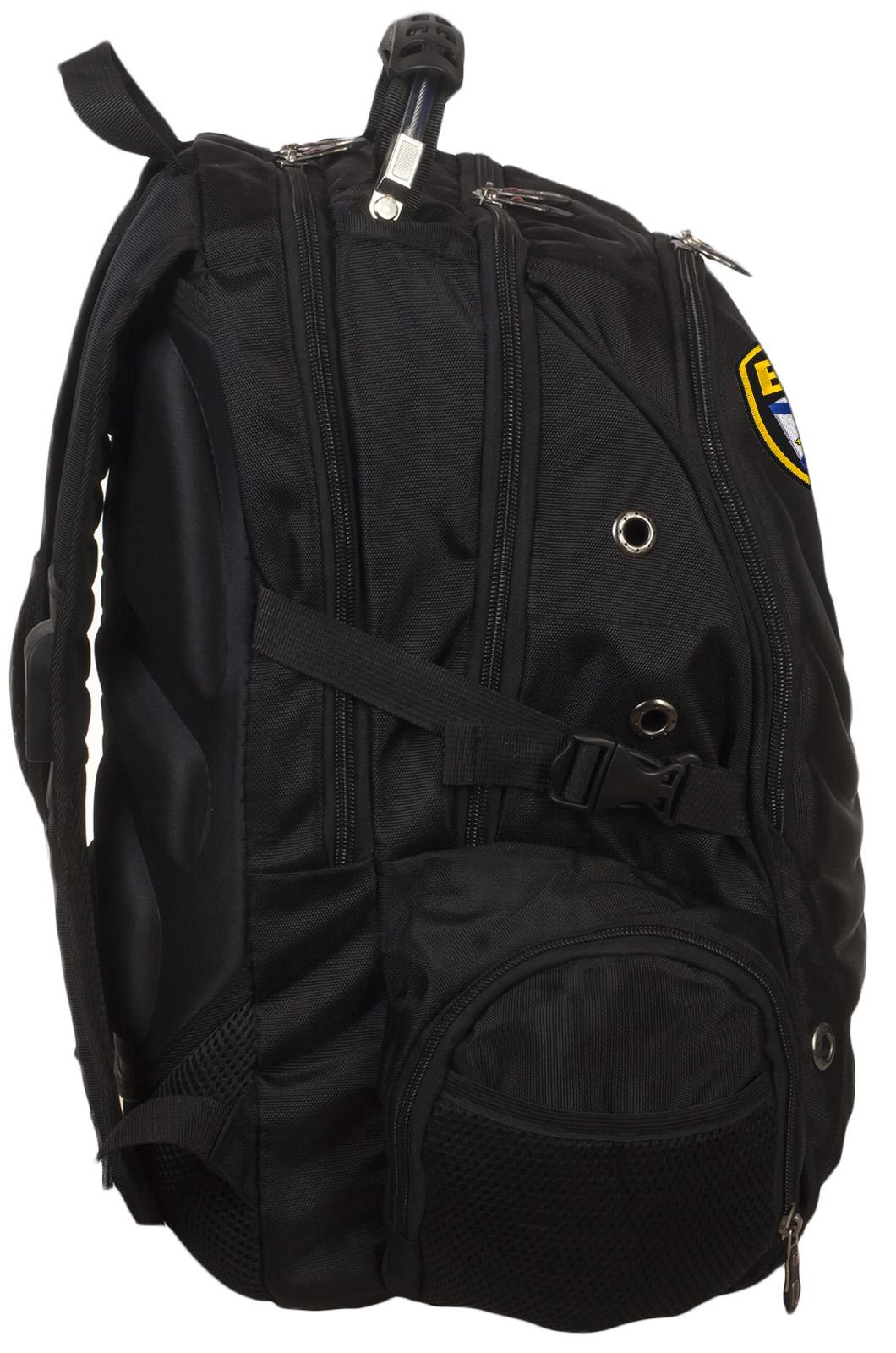 Крутой черный рюкзак с нашивкой ВМФ купить онлайн