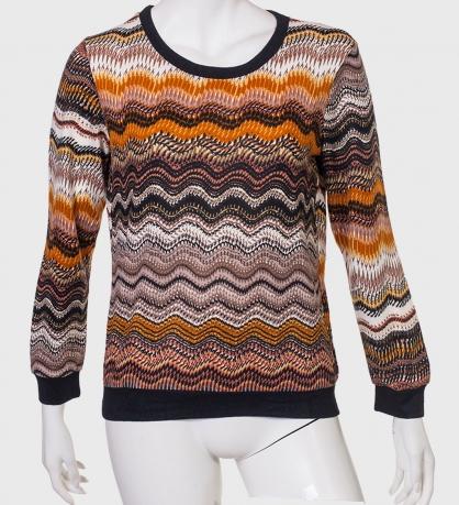 Купить крутой джемпер с разноцветными волнами от LOBO