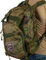 Крутой камуфляжный рюкзак с нашивкой Рыболовный Спецназ