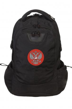 Крутой надежный рюкзак с нашивкой Герб России