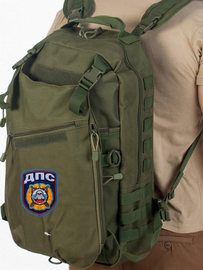 Крутой тактический рюкзак с нашивкой ДПС