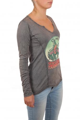Ого-го! Крутой женский реглан Panhandle для смелой и стильной. Модный винтажный эффект на ткани, яркий принт в стиле вестернов и гарантия, что тебя ЗАМЕТЯТ!