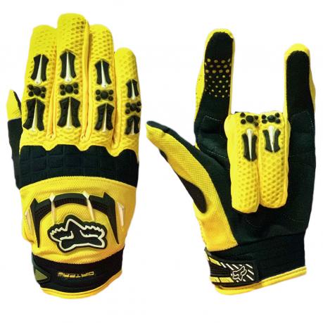 Эксклюзивные черно-желтые перчатки от Dirtpaw