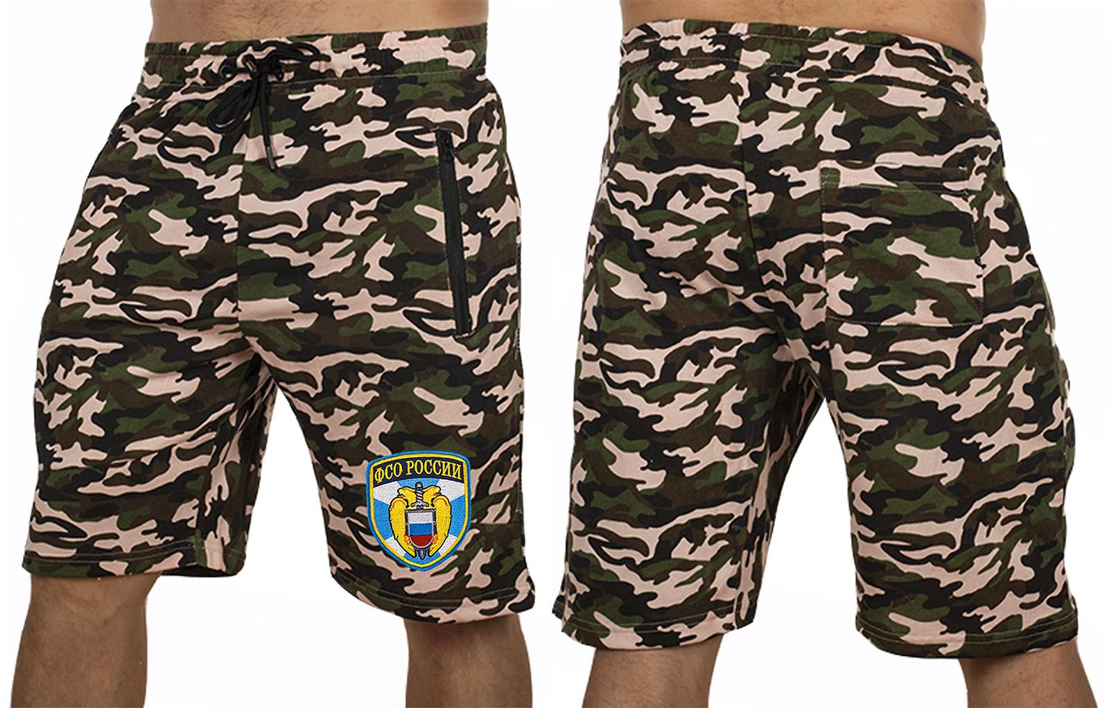 Крутые камуфляжные шорты с нашивкой ФСО - купить с доставкой