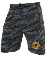 Крутые милитари шорты удлиненного фасона с нашивкой РХБЗ