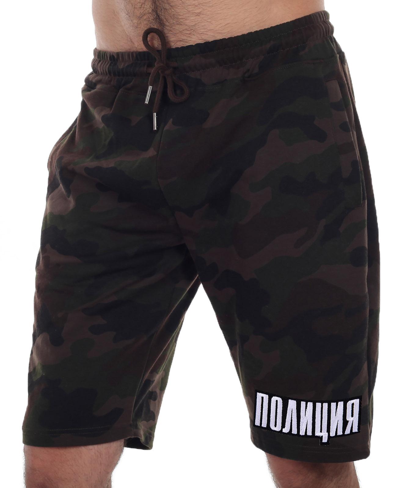 Крутые мужские шорты с нашивкой ПОЛИЦИЯ