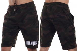 Крутые мужские шорты с нашивкой ПОЛИЦИЯ - заказать выгодно