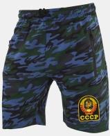 Крутые шорты удлиненного фасона с нашивкой СССР