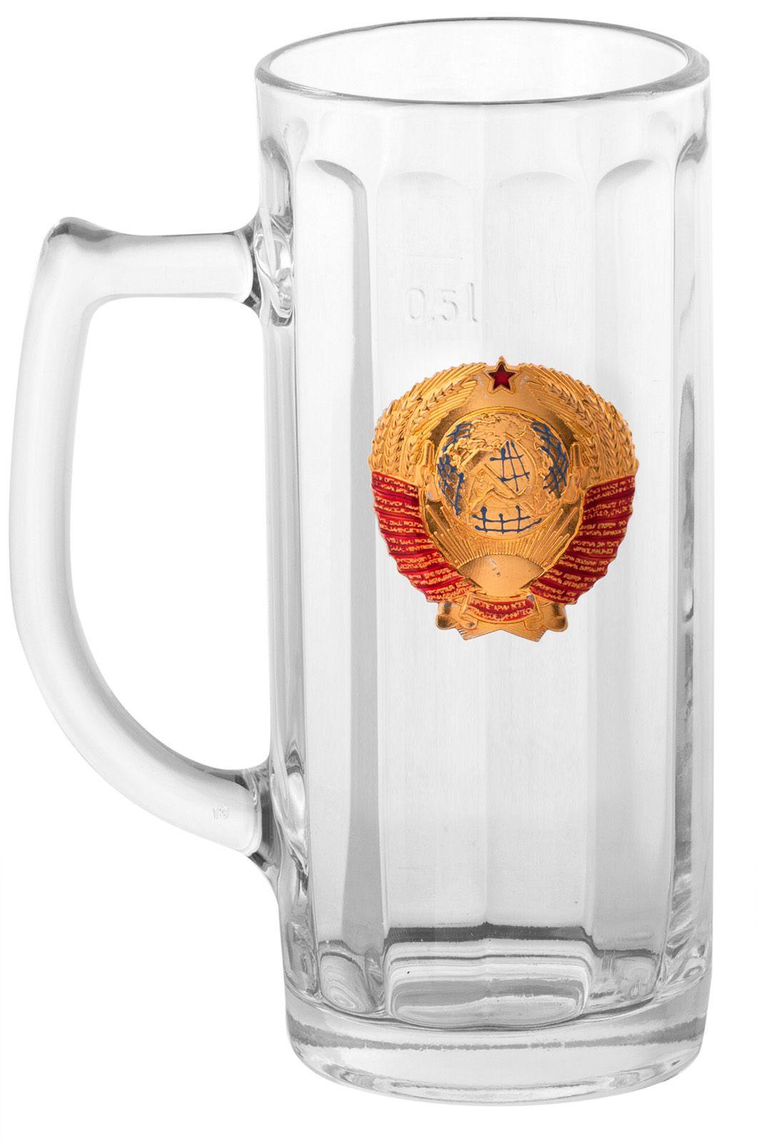 """Кружка для пива и кваса """"СССР"""" по лучшей цене"""