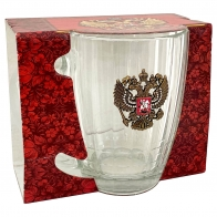 Кружка для пива с гербом РФ