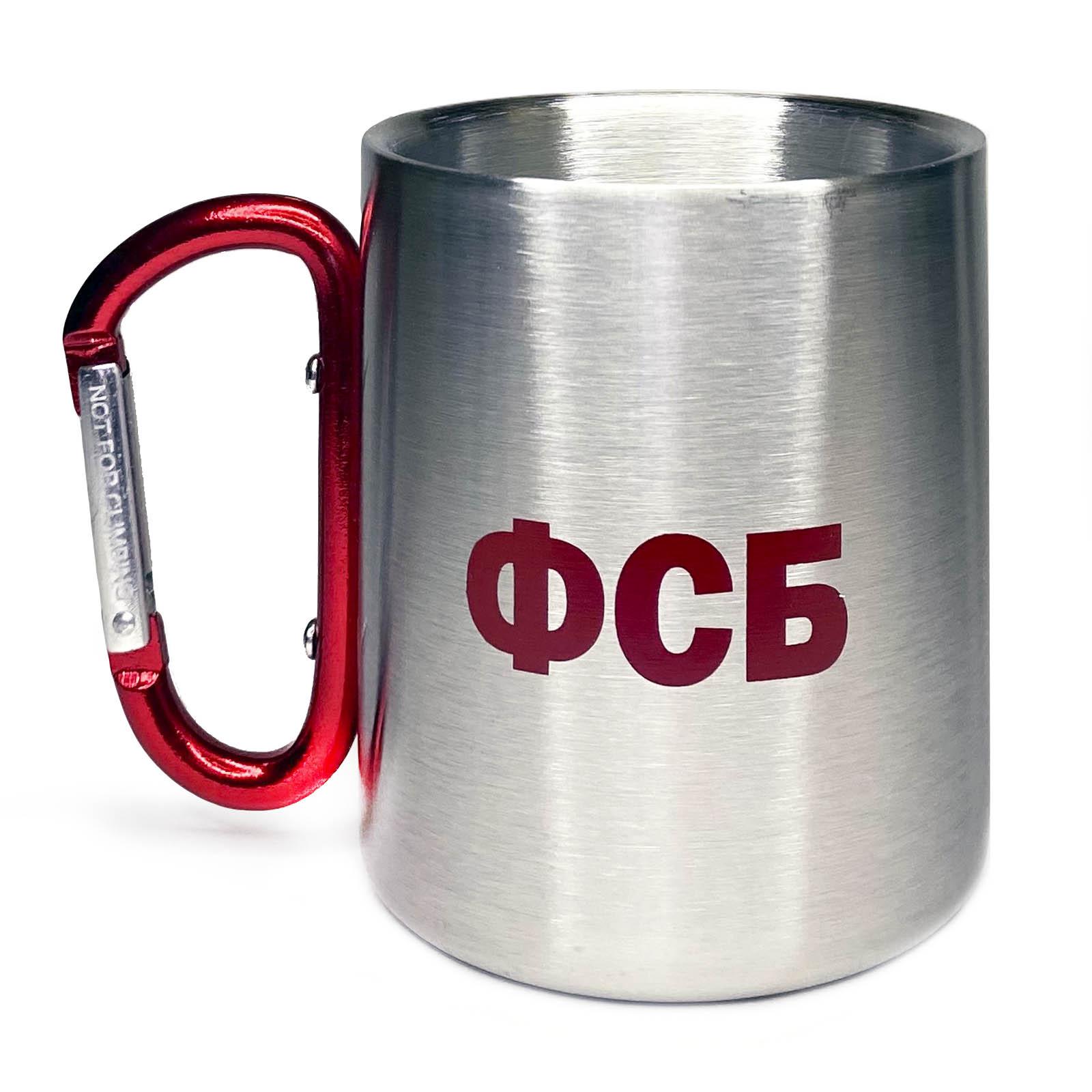 Топовый подарок – стальная кружка-карабин ФСБ.
