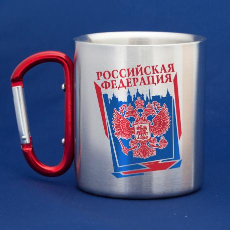 Кружка-карабин российскому патриоту Герб РФ