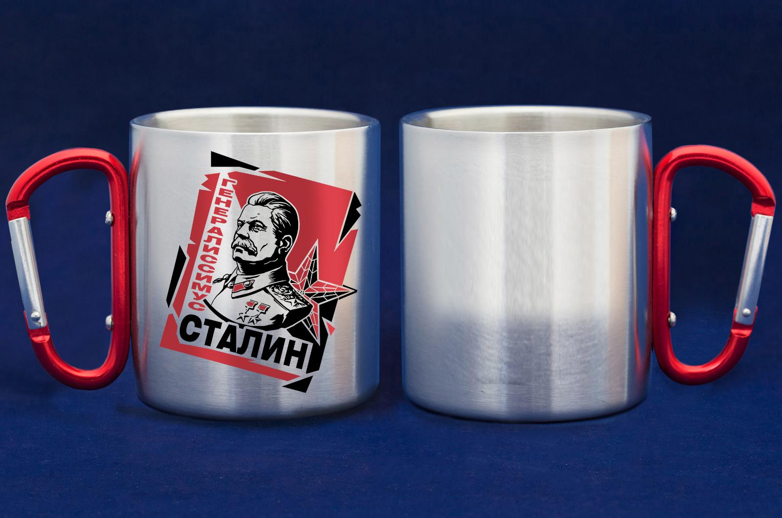 Достойная кружка-карабин с портретом Сталина от Военпро по лучшей цене