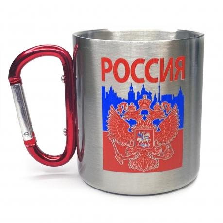 Кружка с карабином и гербом России