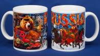 """Кружка с медведем """"Russia"""" - заказать в подарок"""