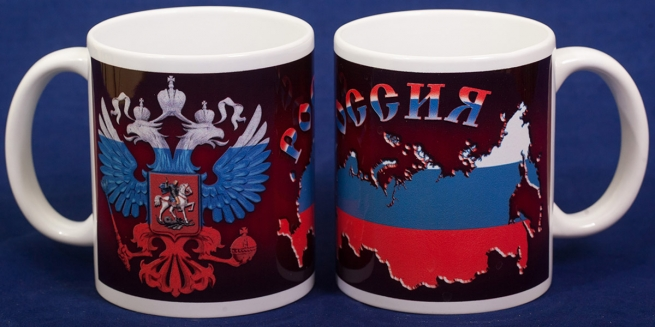 Кружка с Российским гербом