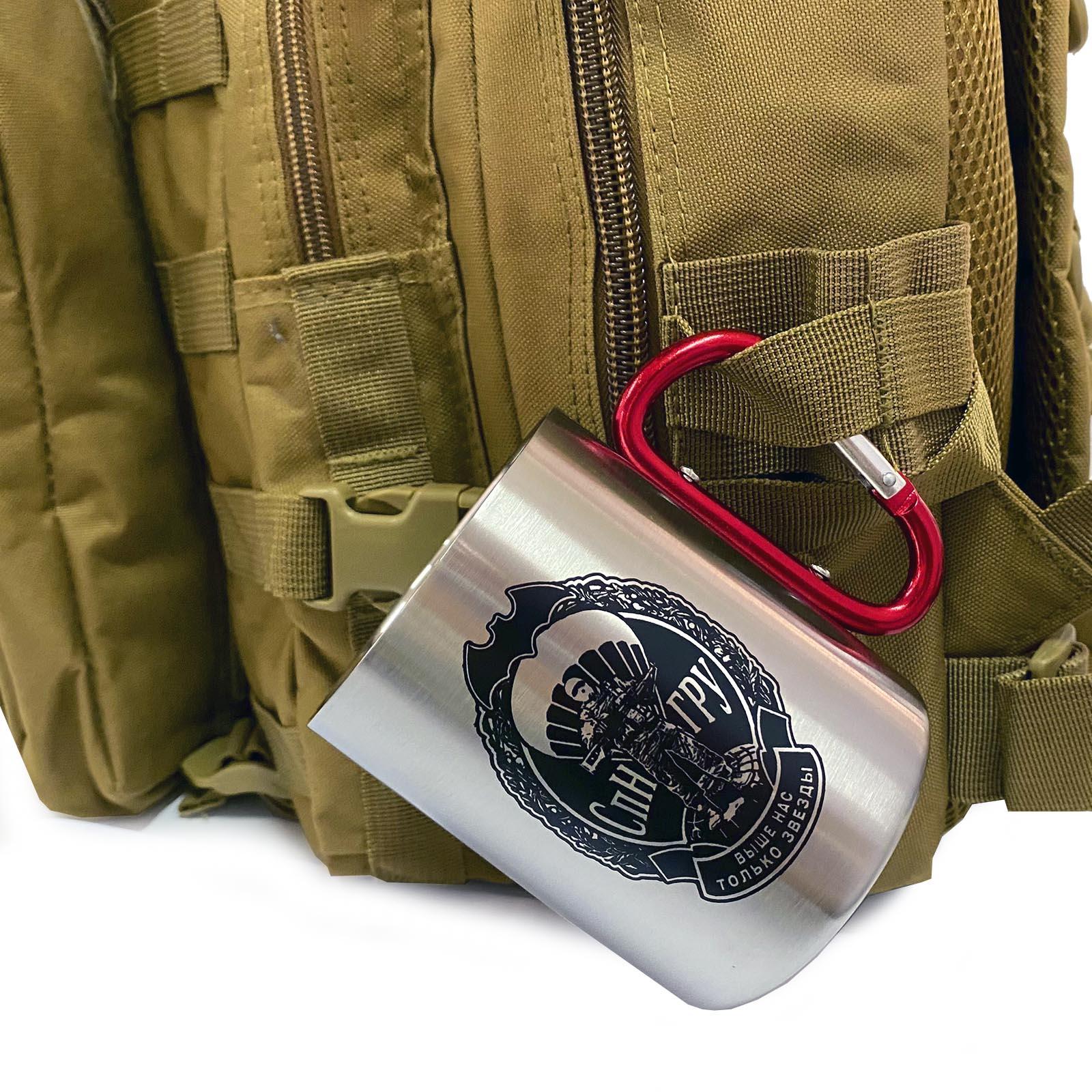 Кружка Спецназ ГРУ с карабином вместо ручки