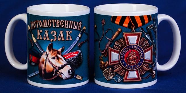 Кружка в подарок Потомственному казаку