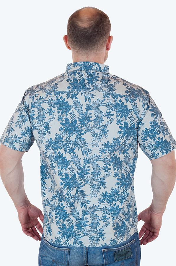 Курортная мужская рубашка от бренда Weird Fish онлайн в Военпро