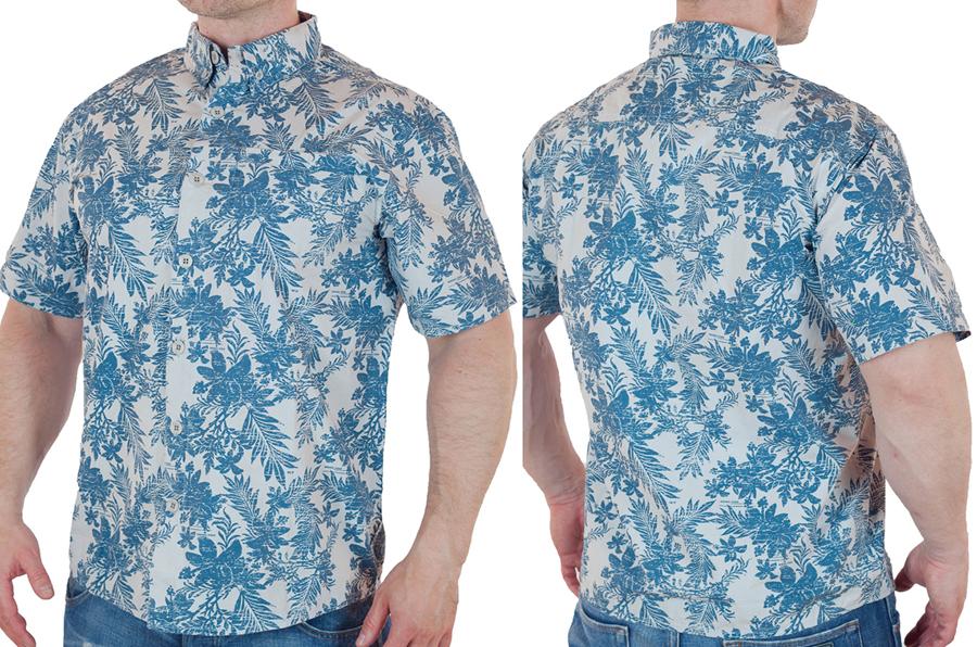 Курортная мужская рубашка от бренда Weird Fish с доставкой