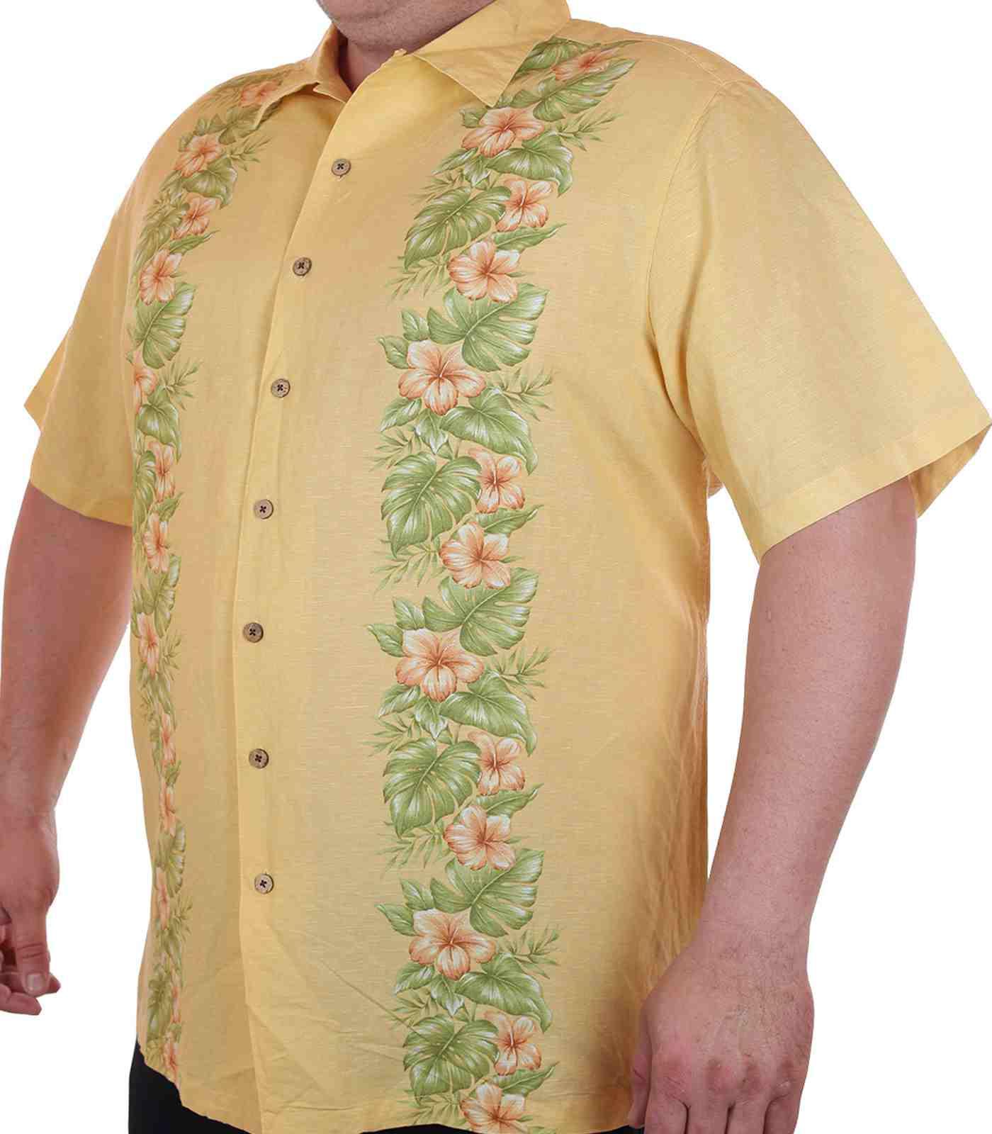 Курортная рубашка больших размеров (батал) для высоких мужчин Caribbean Joe-главная