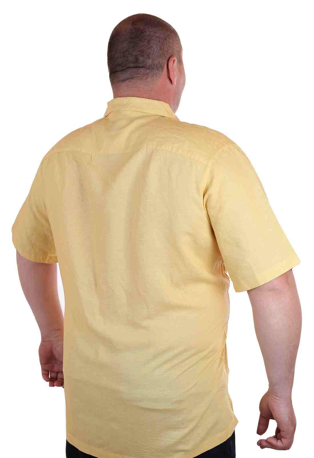 Курортная рубашка больших размеров (батал) для высоких мужчин Caribbean Joe-сзади
