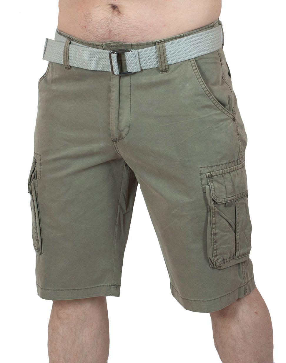 Курортные шорты карго для мужчин - вид спереди