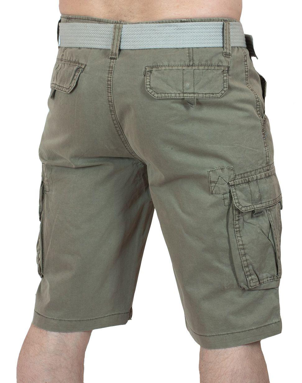 Курортные шорты карго для мужчин - вид сзади