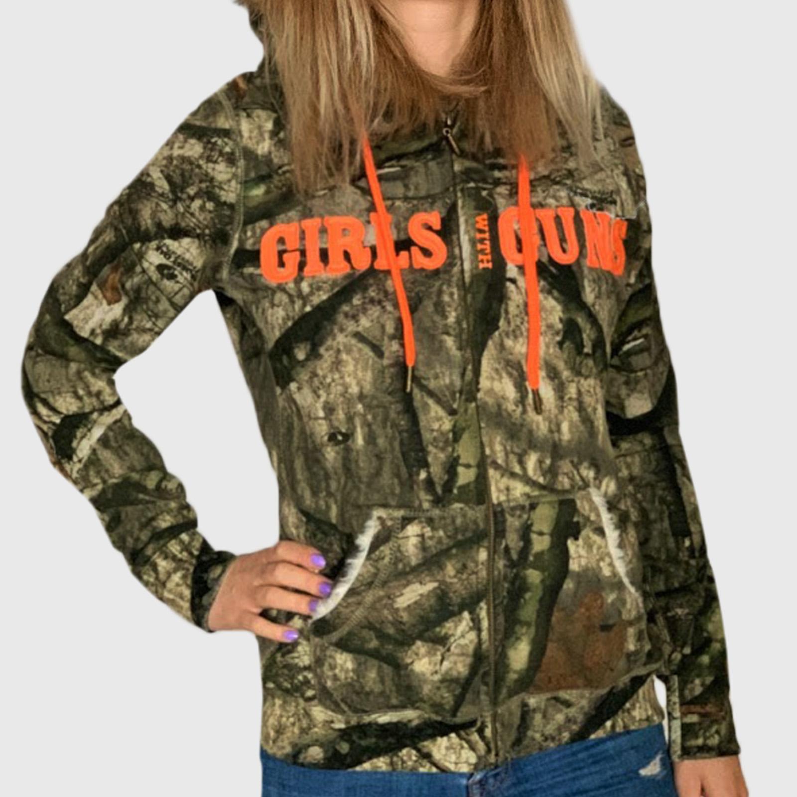 Женская камуфляжная куртка толстовка Girls white guns